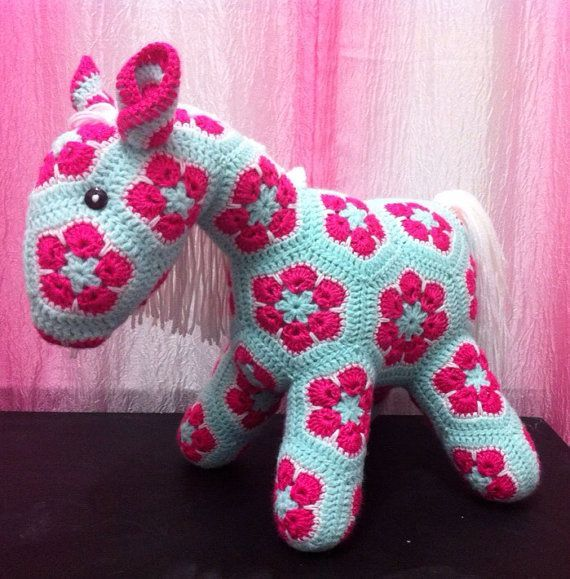 Crochet  African Flower Pony