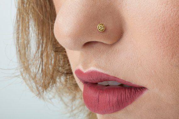 Sun Nose Stud Nose Screw Indian Nose Stud Cork Screw Nose Ring