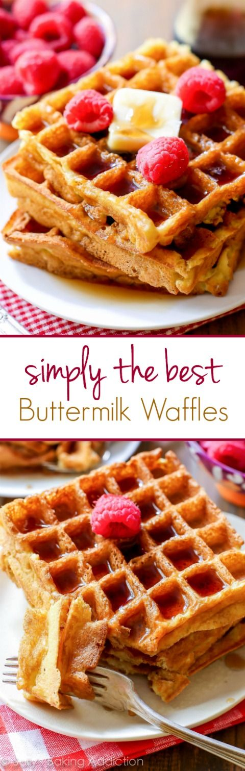 My absolute FAVORITE recipe for Buttermilk Waffles. I will never use another recipe again!