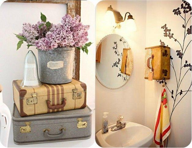 Usando uma mala vintage na decoração