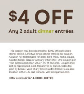 Best 25 Olive Garden Lunch Coupons Ideas On Pinterest