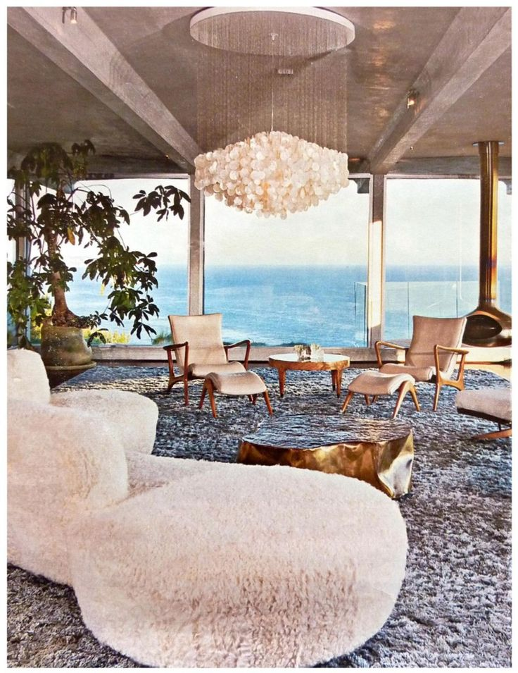 1970s interior with sea views