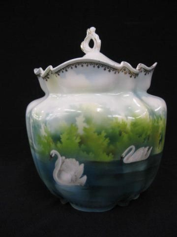 R.S. Prussia Porcelain Biscuit Jar,