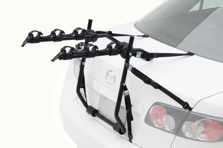 3 Bike Trunk Rack Express Trunk Mount Rack Tie Down Straps Folds Flat Warranty #HollywoodRacks