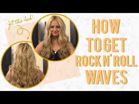 How to Get Rock N' Roll Waves Hair Tutorial with @Jenny Strebe! #divinecaroline #hair