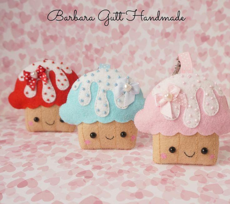 Barbara Handmade...: Filcowe babeczki kawaii / Kawaii felt cupcakes