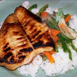 Teriyaki Orange Roughy with Stir-Fried Veggies and Rice on BigOven: Asian inspired, low-fat recipe.