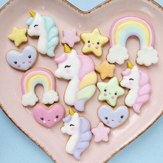 Unicorn Cookie Cutter Set now available in our Etsy shop!