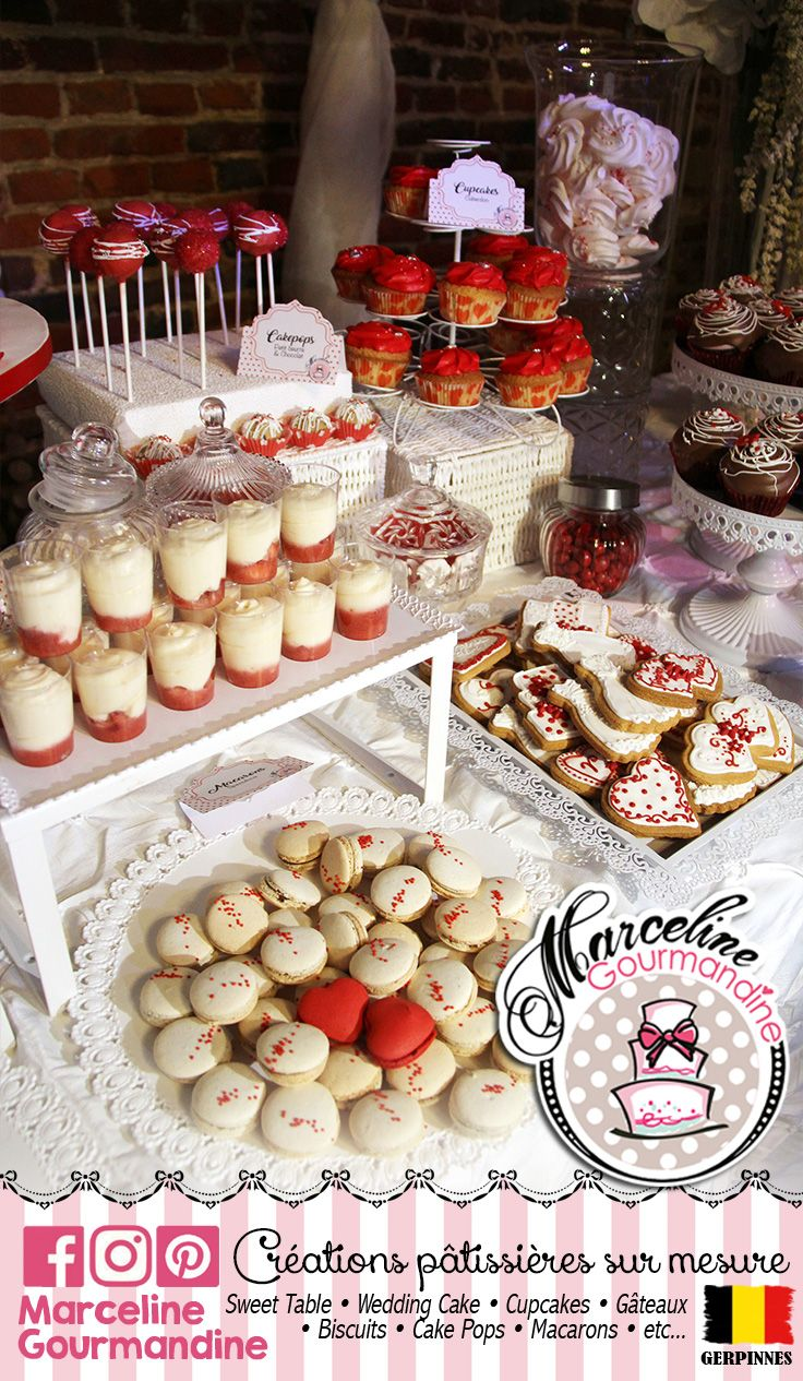 Sweet Table Mariage Rouge Blanc Glamour Chic Romantique