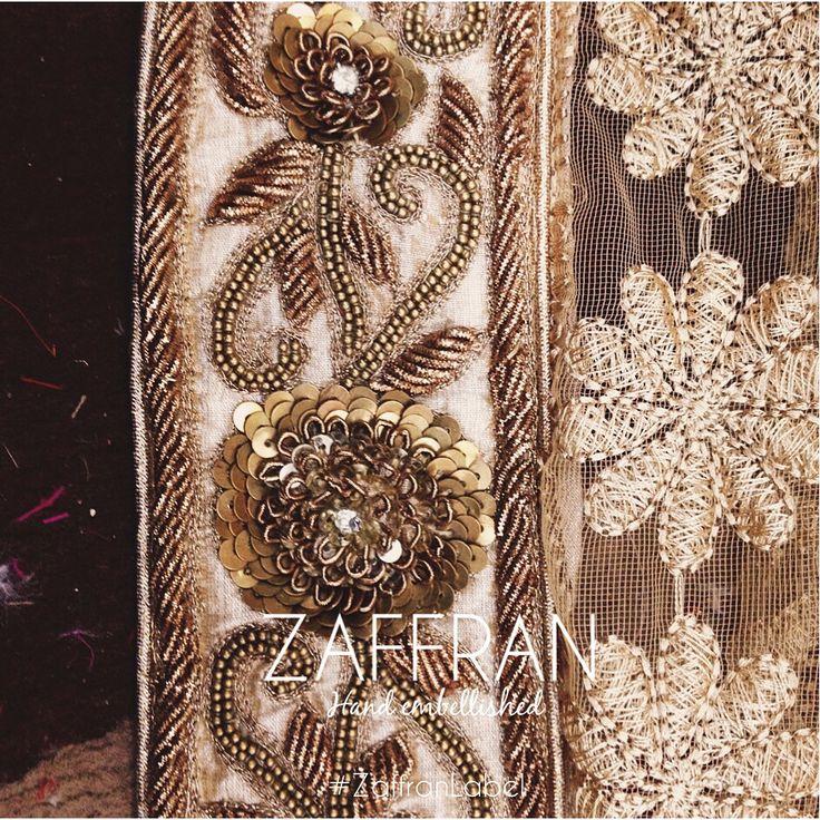 Hand embellished motifs by ZAFFRAN (#ZaffranLabel). To custom design your ensemble, write to us at: customercare.zaffran@gmail.com