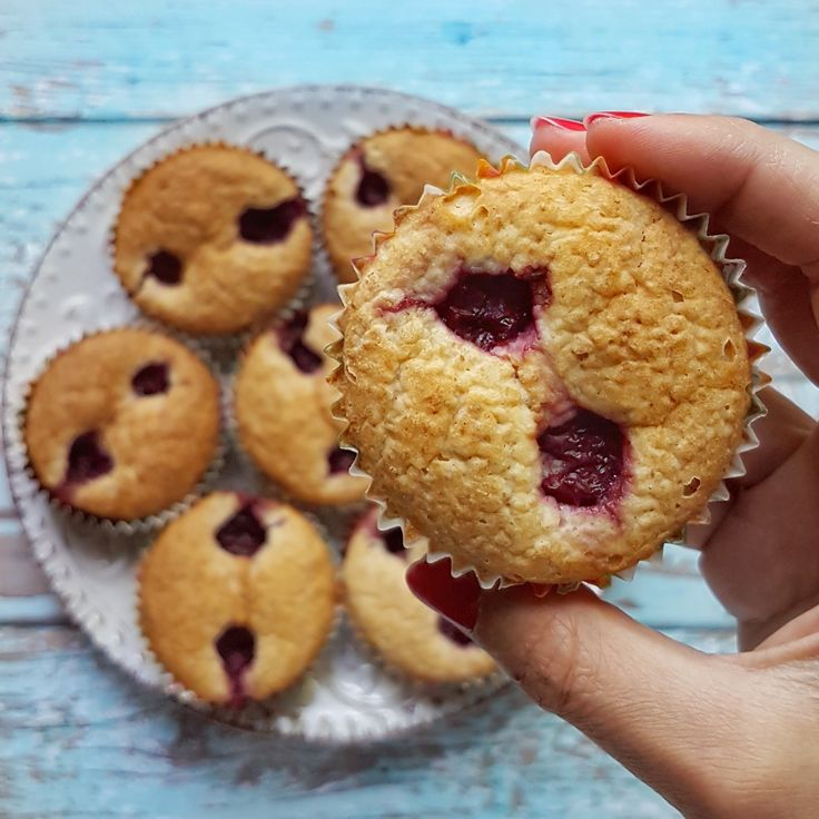Fitt meggyes muffin