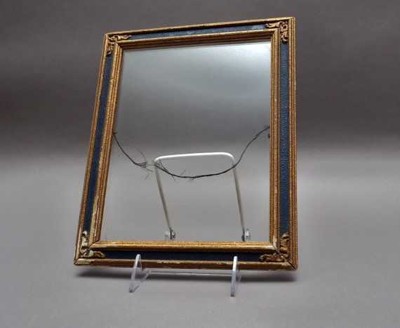 Antique Picture Frame Blue with Gold gilding by GBCsLegacies