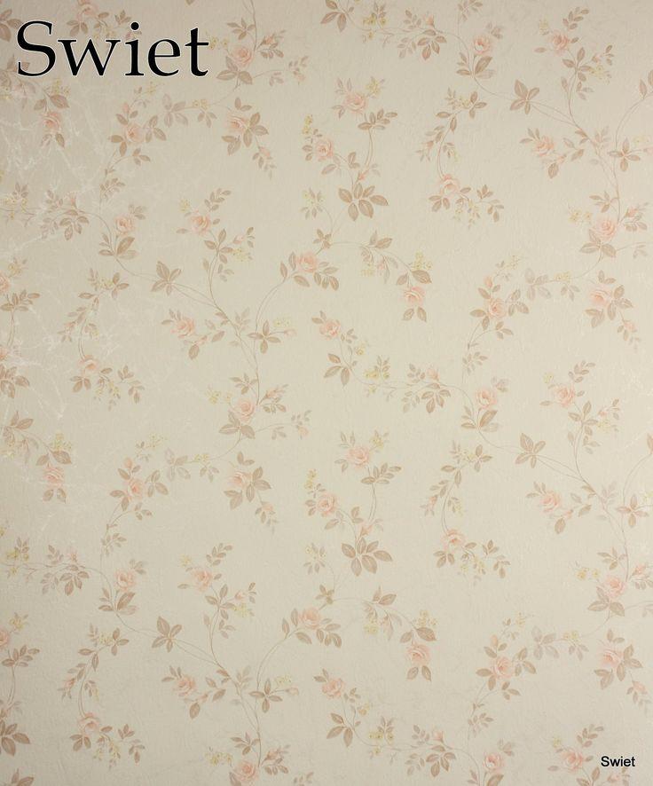 Country style bloemen behang   Swiet