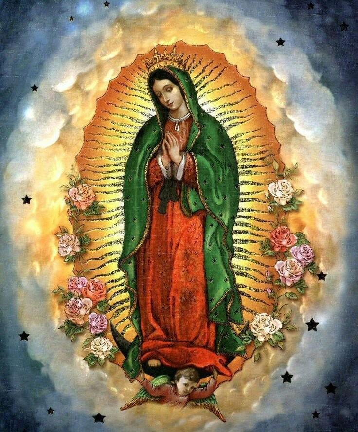 La Virgen de Guadalupe.