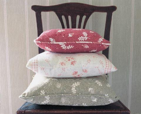 """Cushions made of fabric from the Vanessa Arbuthnott """"Wildflower"""" collection"""