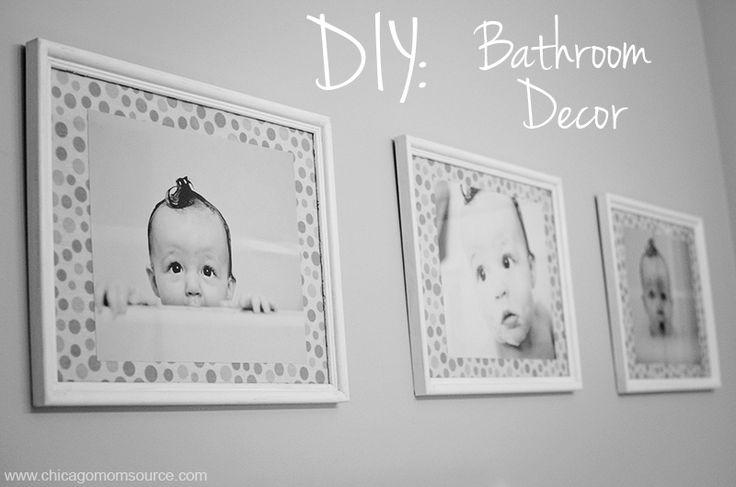 DIY Bathroom Decor: Prints, such a cute idea for a kids bathroom!