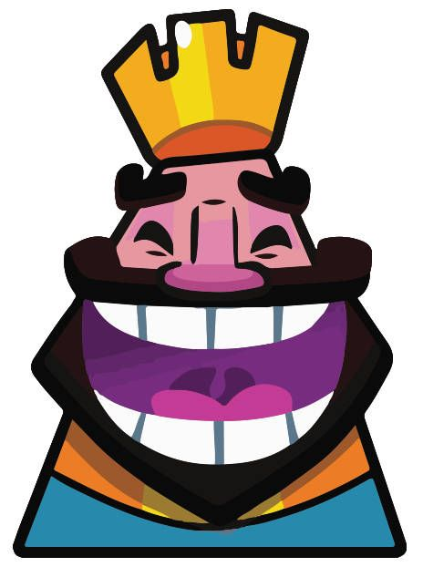 Clash Royale King Emote Die Cut Sticker 2 Pack For Clash Royale
