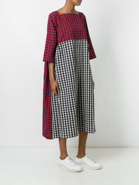 Daniela Gregis checked dress