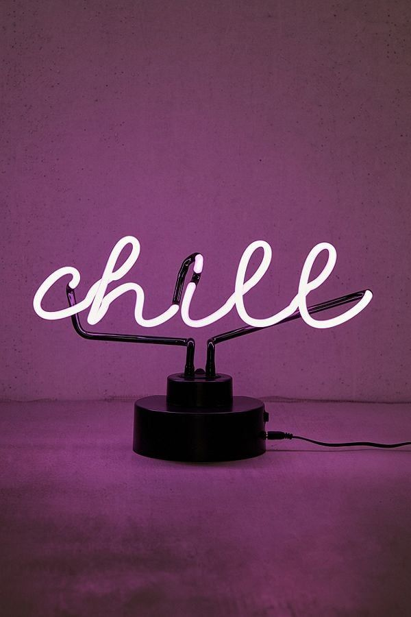 Chill Neon Sign Table Lamp Neon Signs Neon Lights Bedroom Neon Lamp