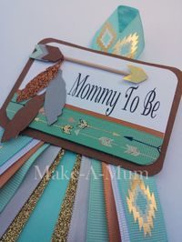 Tribal Baby Shower corsage Mommy To Be Boy Baby Shower by MakeAMum