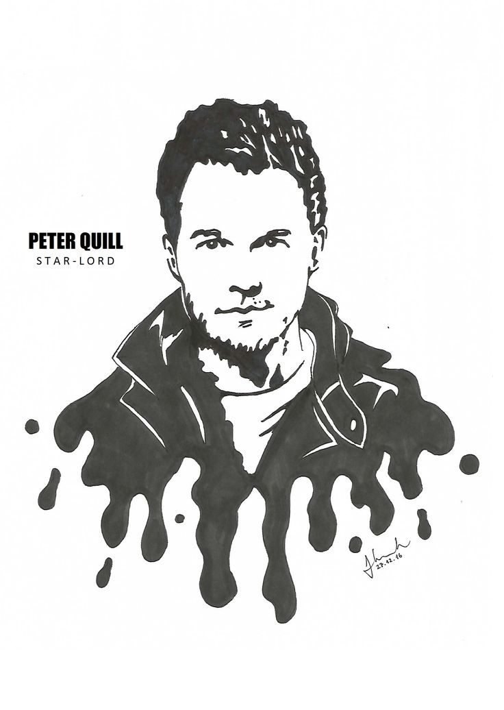 #peter #quill #star #lord #starlord #chris #pratt #drawing #blackandwhite #marvel #guardians #of #the #galaxy #guardiansofthegalaxy