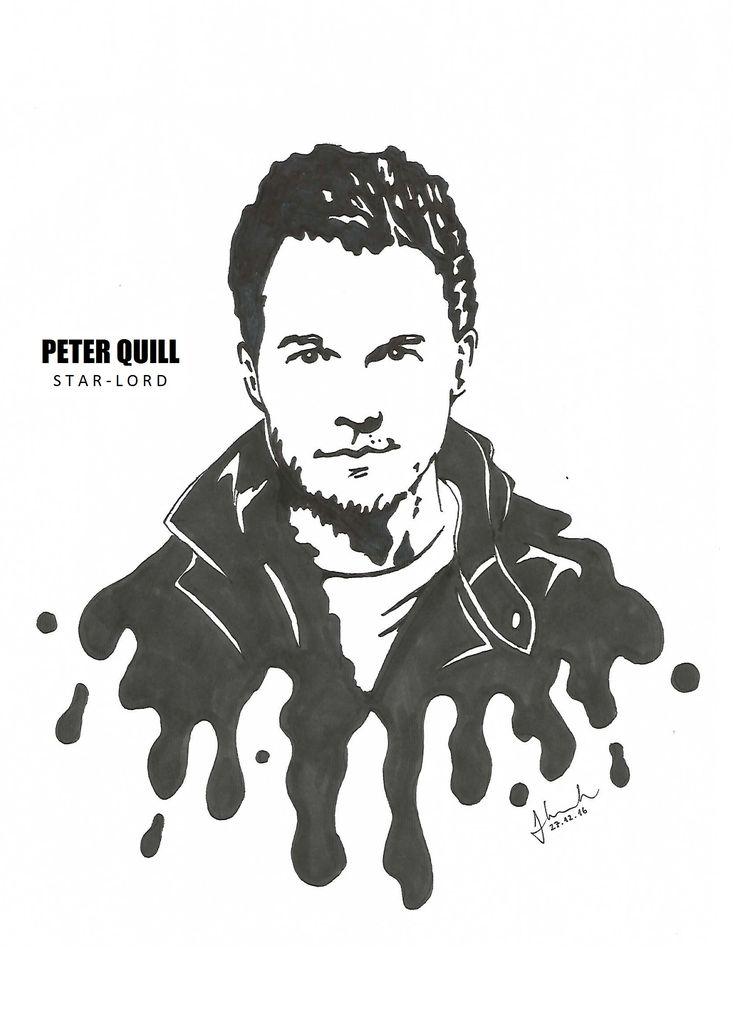 #peter #quill #star #lord #starlord #chris #pratt #drawing #blackandwhite #marvel #guardians #of #the #galaxy #guardiansofthegalaxy