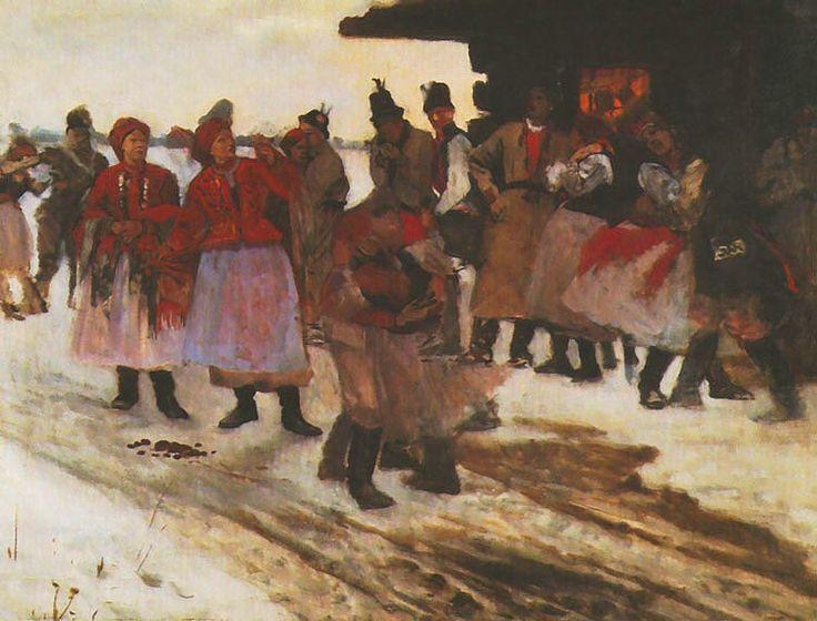 Jacek Malczewski - In Front of an Inn