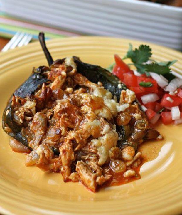 Chicken Stuffed Poblano Peppers Recipe - RecipeChart.com