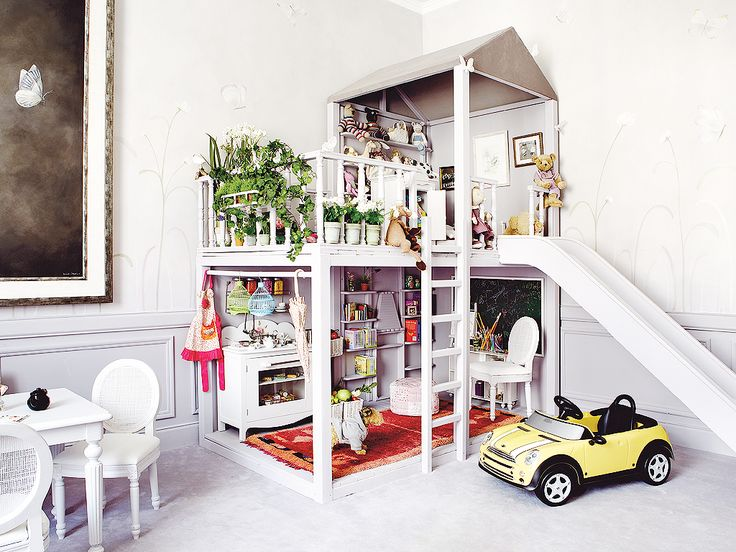 At first glance I thought this was a dollhouse, but it's a PLAYhouse! For humans, not dolls!