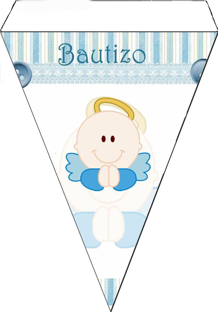 Kit para Bautizo de Niño con Angelito.