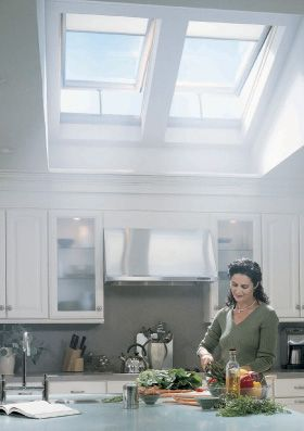 Opening Skylights where needed throughout the house.