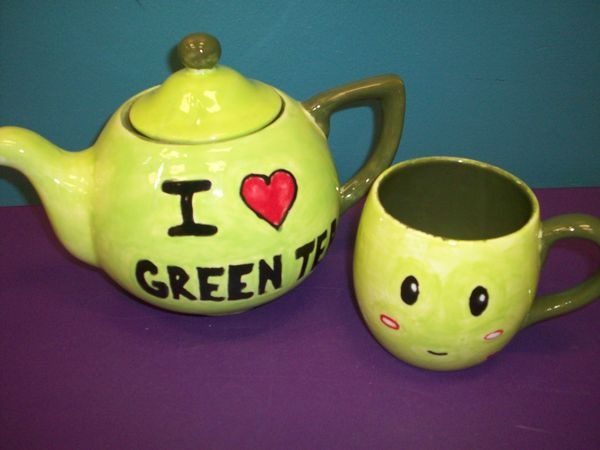 17 best images about hello is it tea you 39 re looking for Green tea pot set