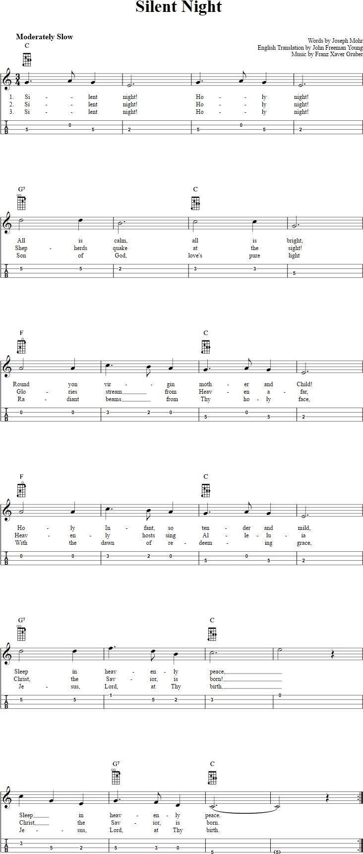 Best 25 silent night guitar chords ideas on pinterest easy silent night mandolin tab hexwebz Images