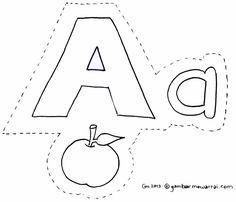 Gambar Mewarnai Abjad  cari bahan mengajar untuk anak-anak Taman Kanak-kanak....