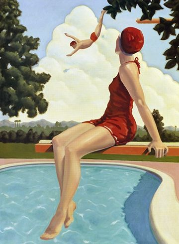 """Admiration"" by Kenton Nelson http://www.pinterest.com/vanessagellard/swim/"