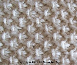 Tunisian moss stitch.  Plus other tunisian variations