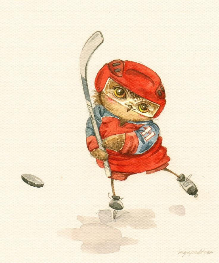 'Hockey Owl' by Inga Paltser