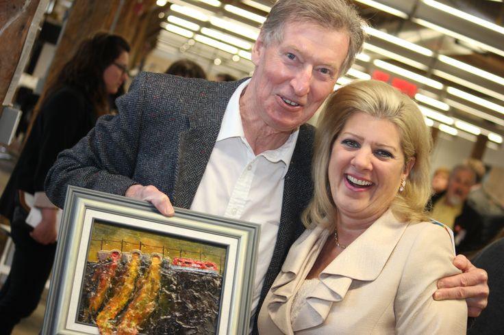 Artist, Bill Whittaker and Sudbury's Mayor, Marianne Matichuk.
