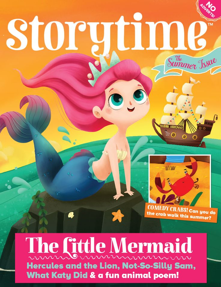 A sunny Storytime Issue 24 cover, featuring The Little Mermaid. August 2016. Out now! ~ STORYTIMEMAGAZINE.COM