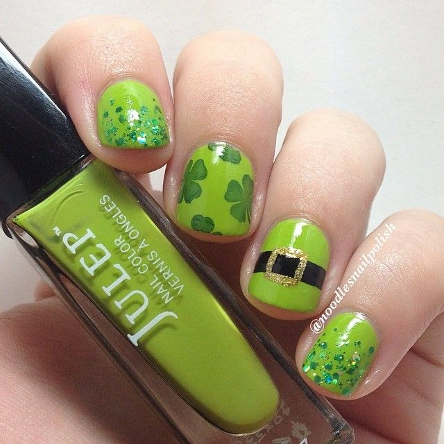 noodlesnailpolish St. patrick's day #nail #nails #nailart