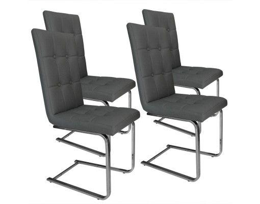 lot de 4 chaises capitonn es grises judson table pinterest. Black Bedroom Furniture Sets. Home Design Ideas