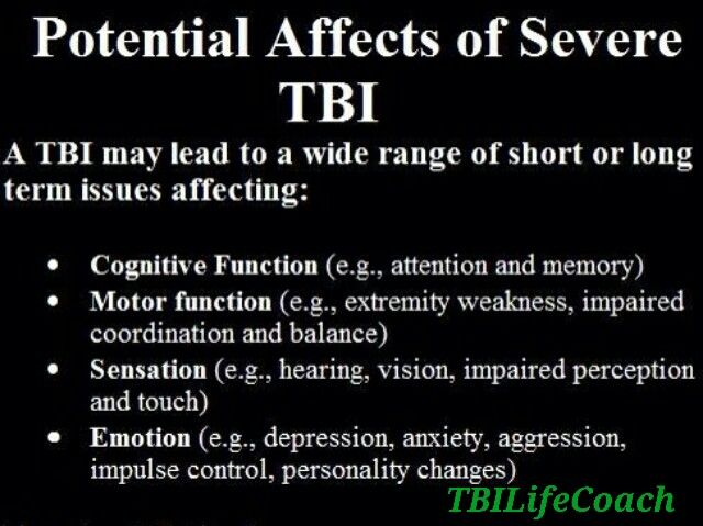 ~Some of the short and long term effects of a TBI~