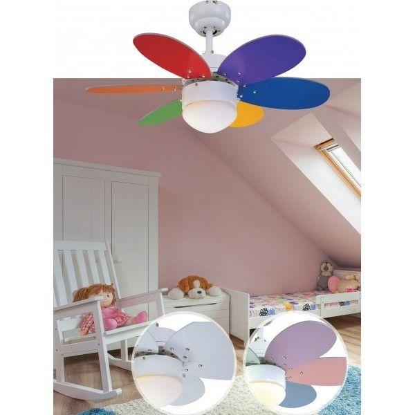 Ventiladores de Techo Infantiles. Refresca el Dormitorio de tus Hij@s.