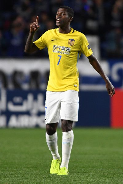 Ramires Santos  of Jiangsu FC looks on during the AFC Champions League Group H match between Gamba Osaka and Jiangsu FC at Suita City Football Stadium on March 15, 2017 in Suita, Japan.