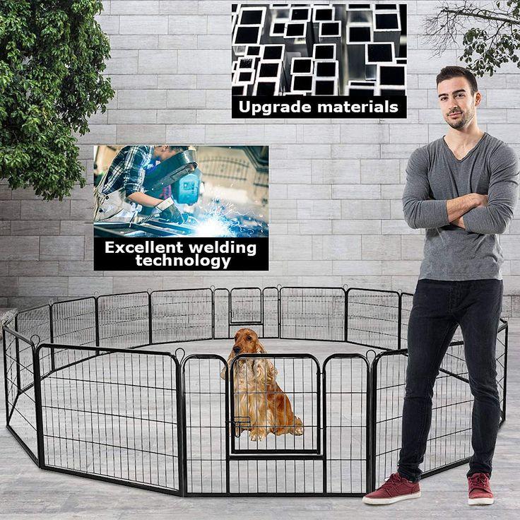 Bestpet dog pen extra large indoor outdoor dog fence