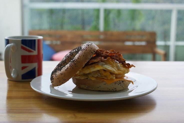 Eggs & Bacon Burger