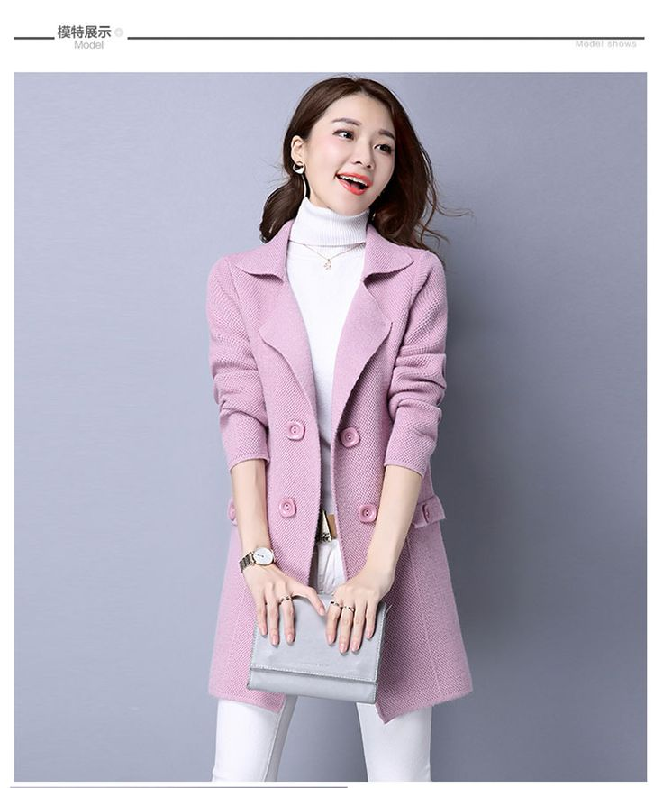 US $28.49 -- Solid Color Women Sweaters 2016 Autumn Knitted Women Outerwear Elegant Turn Down Collar Coats Long Sleeve Button Cardigans aliexpress.com