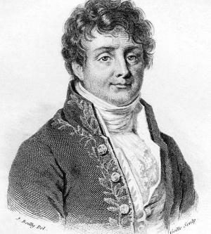 Joseph Fourier : mathématicien et physicien, auteur de travaux sur la décomposition de fonctions périodiques en séries, aujourd'hui dites, « de Fourier » et sur leur application au problème de la propagation de la chaleur