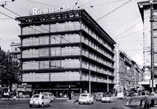 """Department Store """"La Rinascente"""" (1957-61) in Rome, Italy, by Franco Albini"""