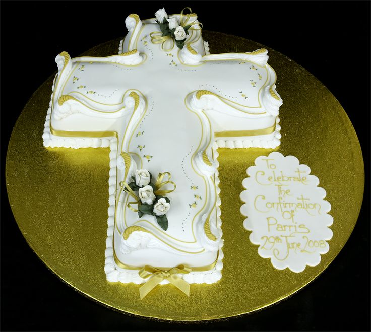 17 best images about confirmation ideas on pinterest holy spirit cross cakes and first - Holy communion cake decorations ...